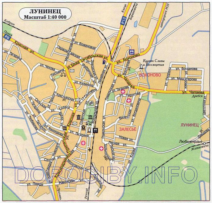 Карта Лунинца