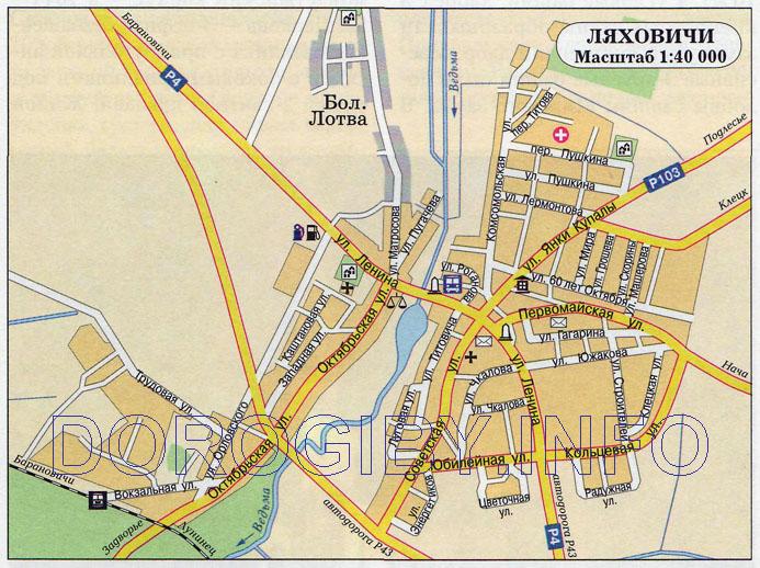 Карта Ляховичей