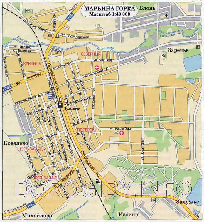 Карта Марьиной Горки