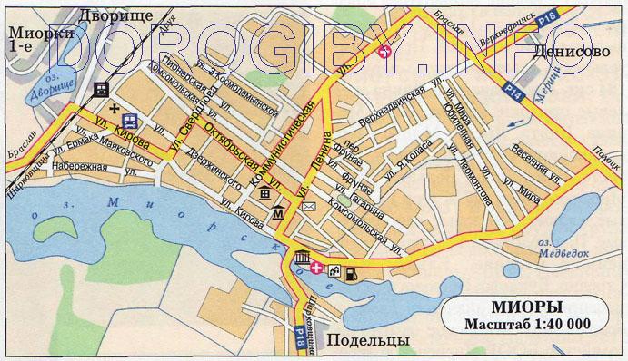 Карта Миор