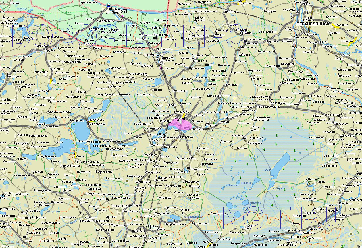 Карта Миорского района