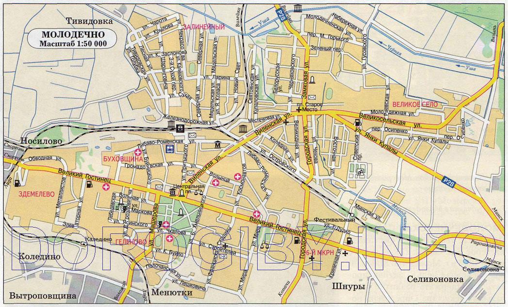Карта Молодечно