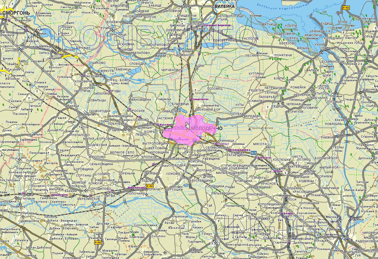 Карта Молодечненского района