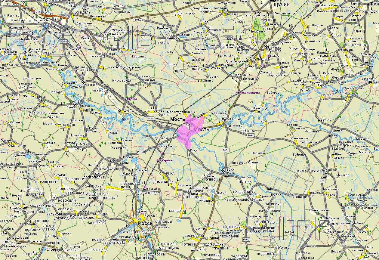 Карта Мостовского района