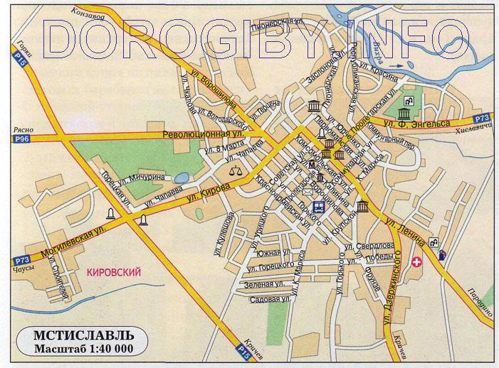 Карта Мстиславля