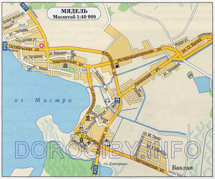 Карта Мяделя