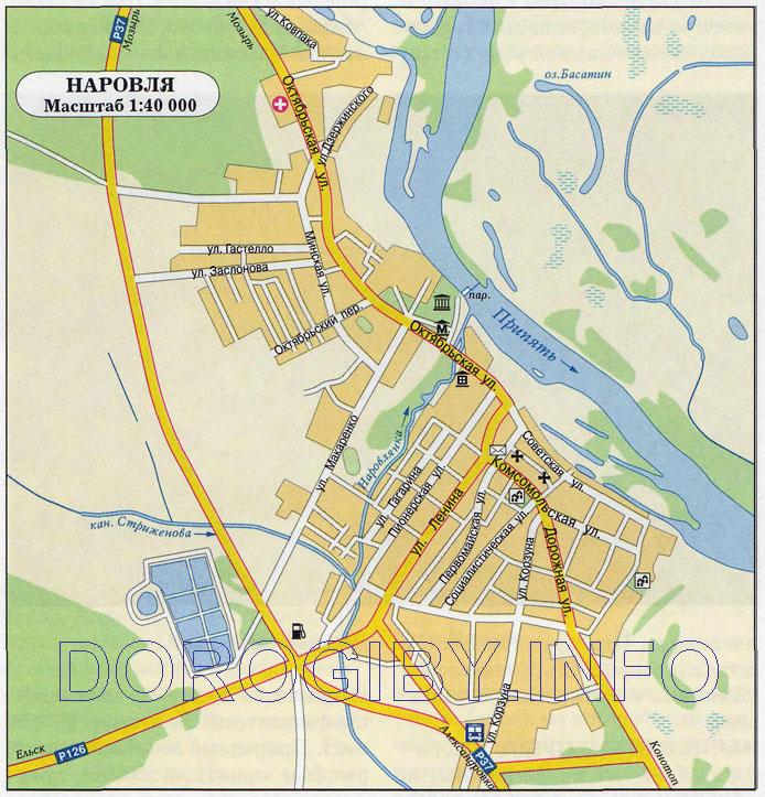 Карта Наровли