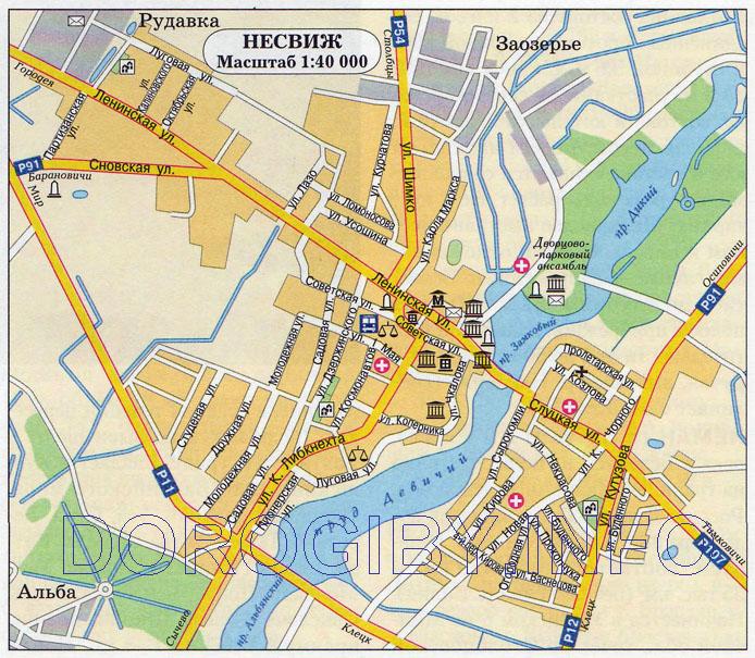 Карта Несвижа