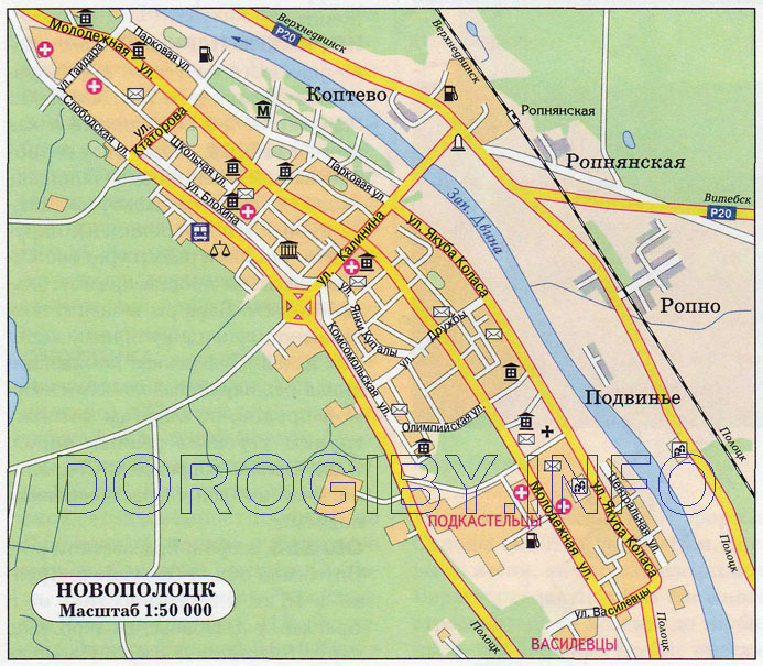 Map Of Novopolotsk Cities Of Belarus - Navapolatsk map
