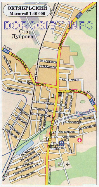 Карта Октябрьского