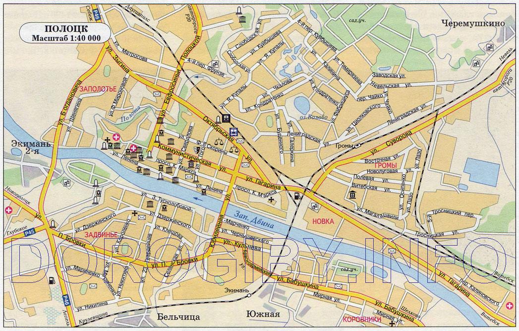 Карта Полоцка