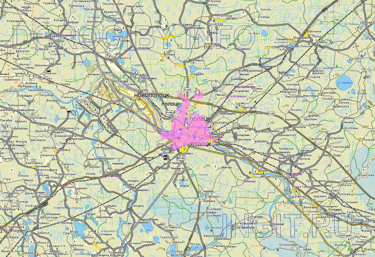 Карта Полоцкого района