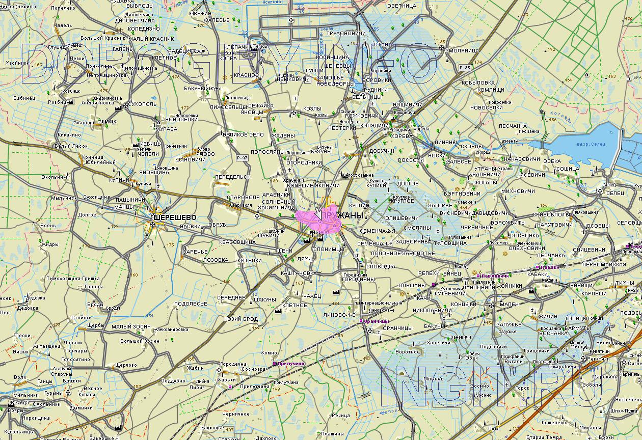 Карта Пружанского района