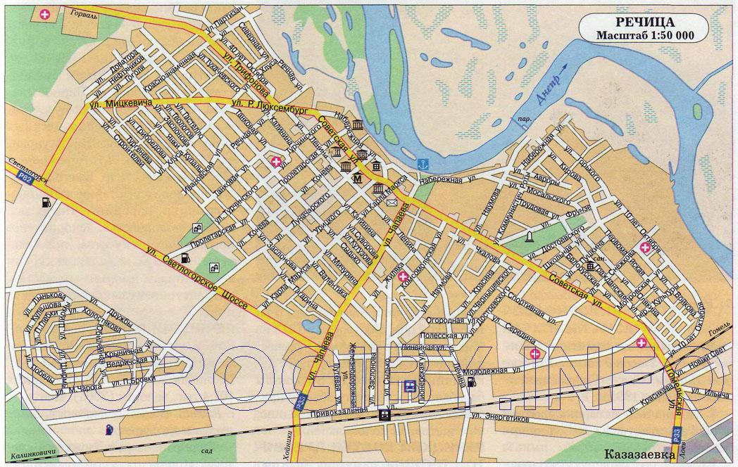 Карта Речицы