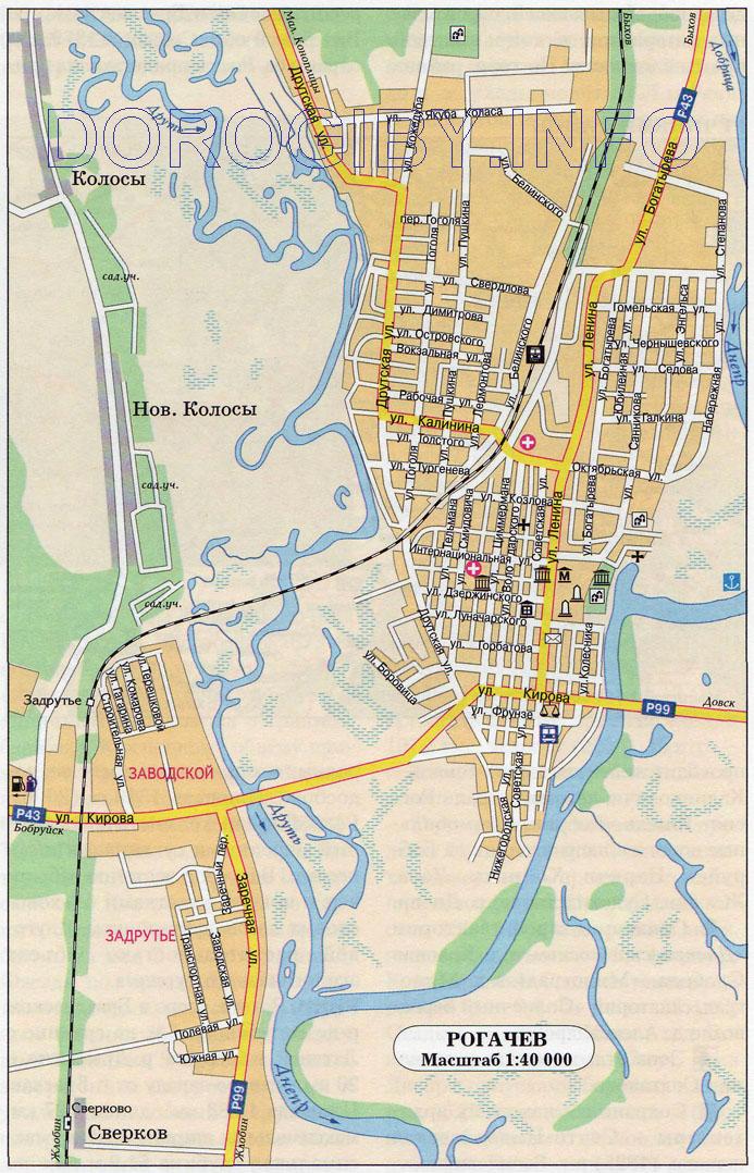 Карта Рогачёва