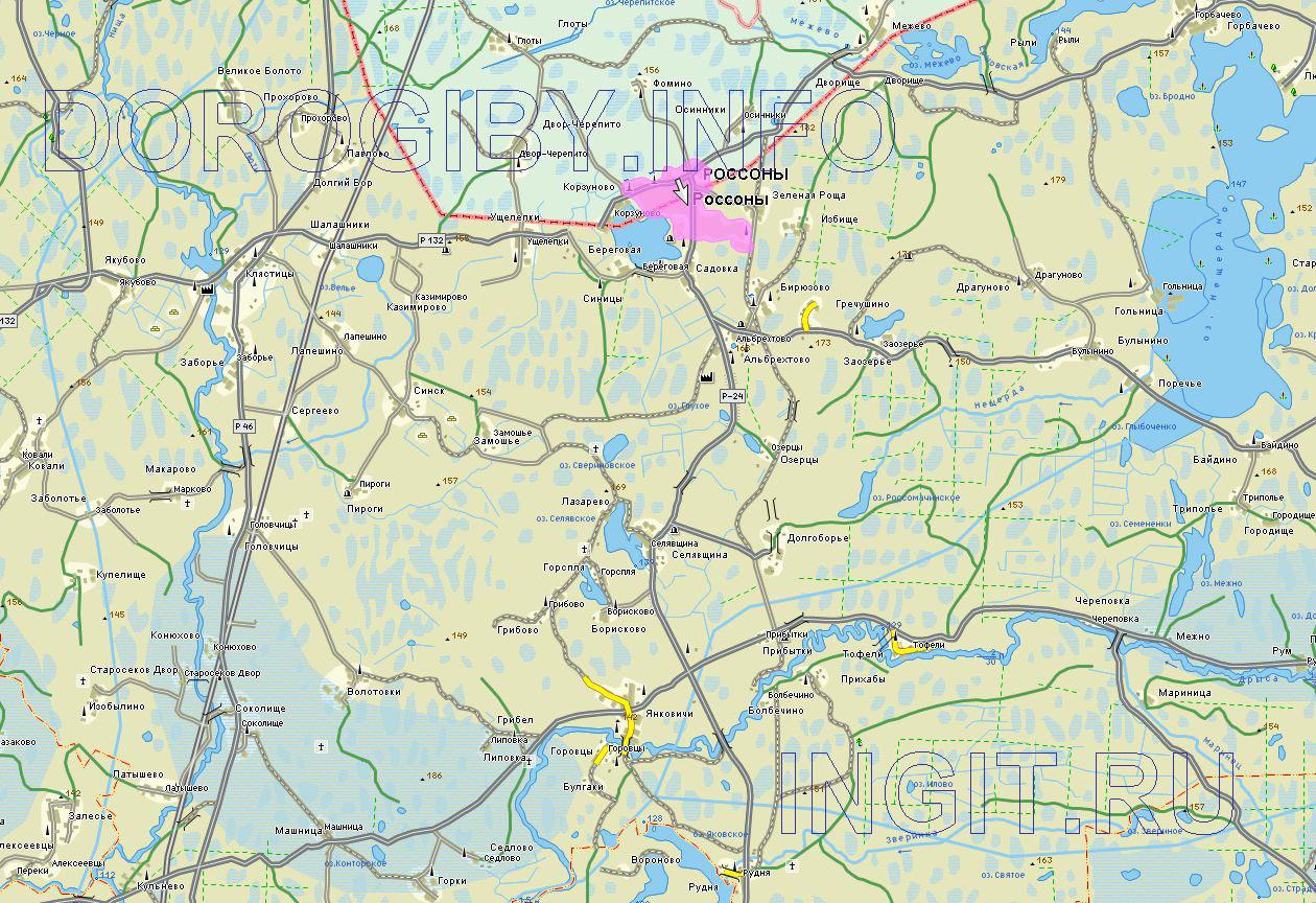 Карта Россонского района