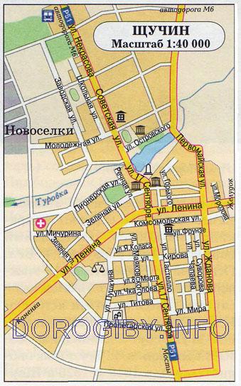Карта Щучина