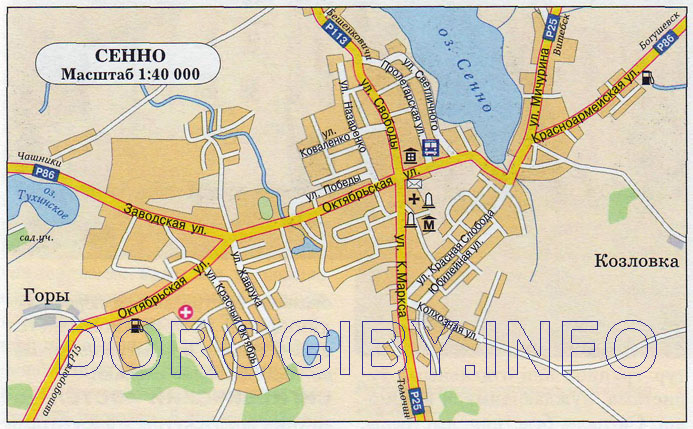 Карта Сенно