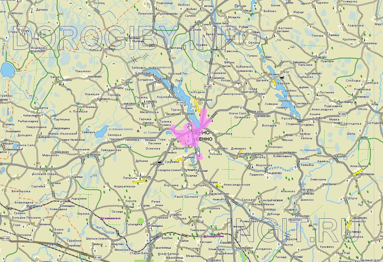 Карта Сенненского района