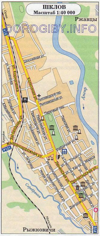 Карта Шклова