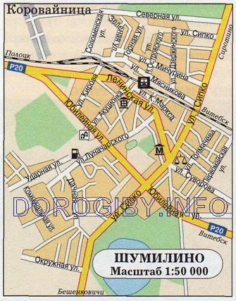 Карта Шумилино