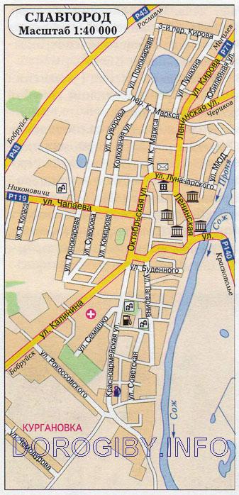 Карта Славгорода