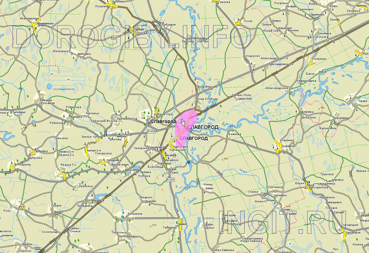 Карта Славгородского района