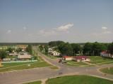 Лесная. Вид на деревню с храма.