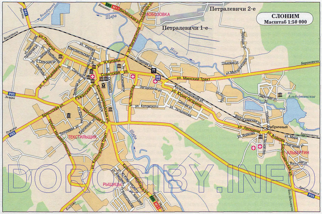 Map of Slonim