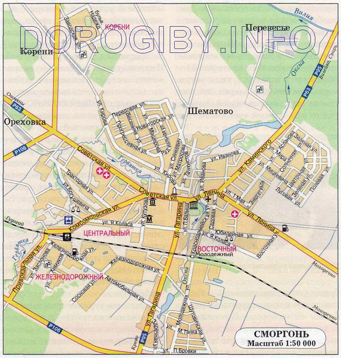 Карта Сморгони