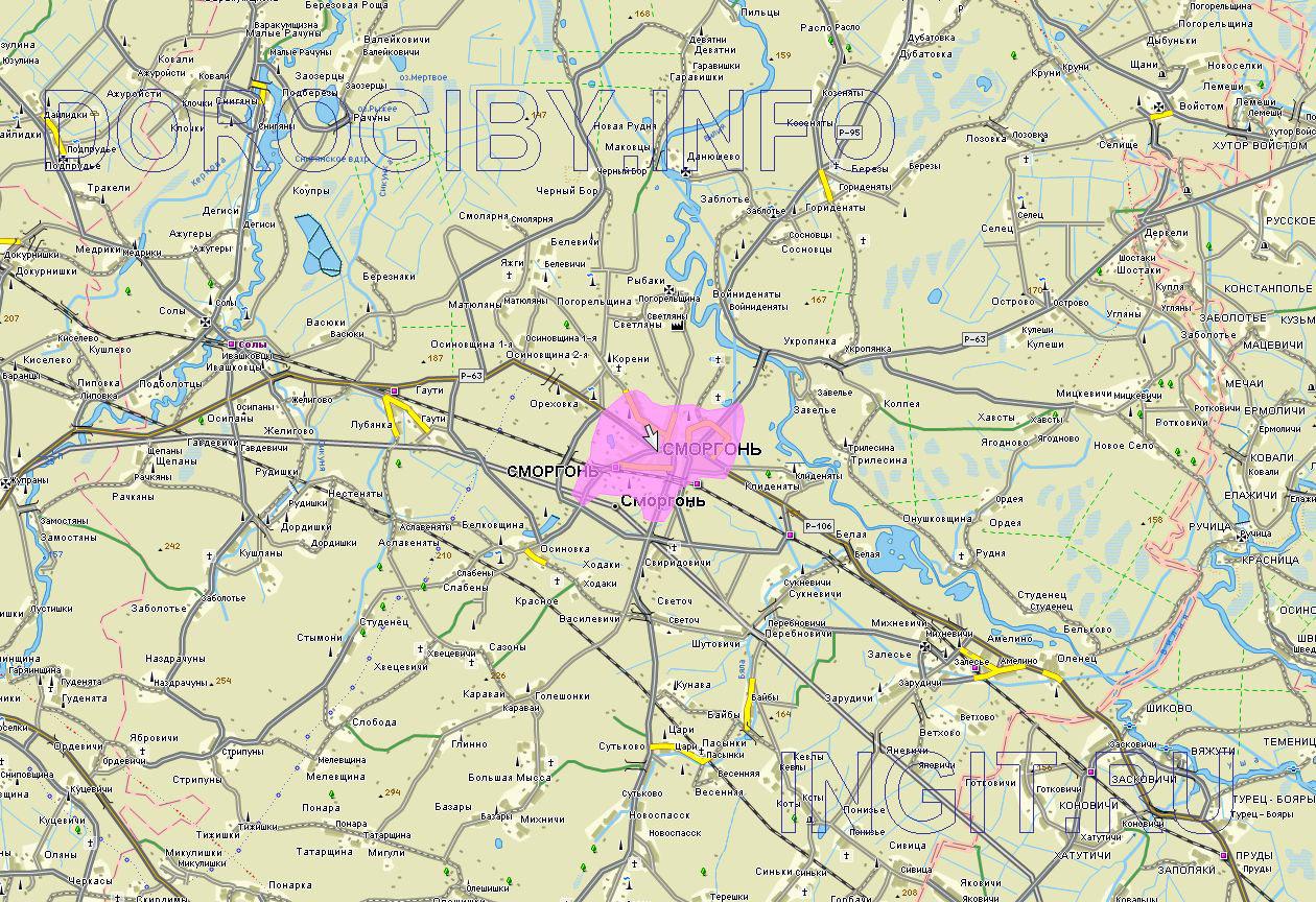 Карта Сморгонского района