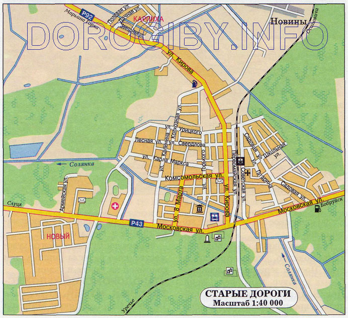 Карта Старых Дорог