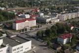 Старые Дороги с вертолета - центр города