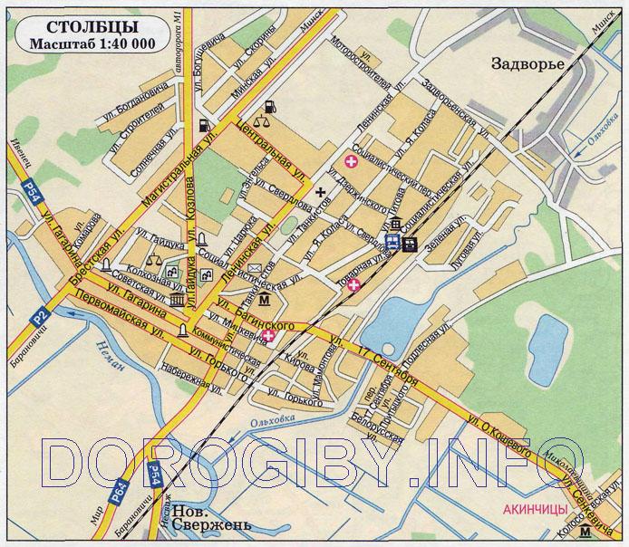 Карта Столбцов