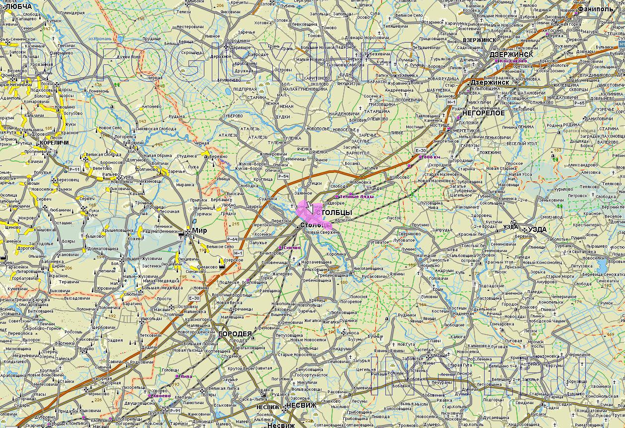 Карта Столбцовского района