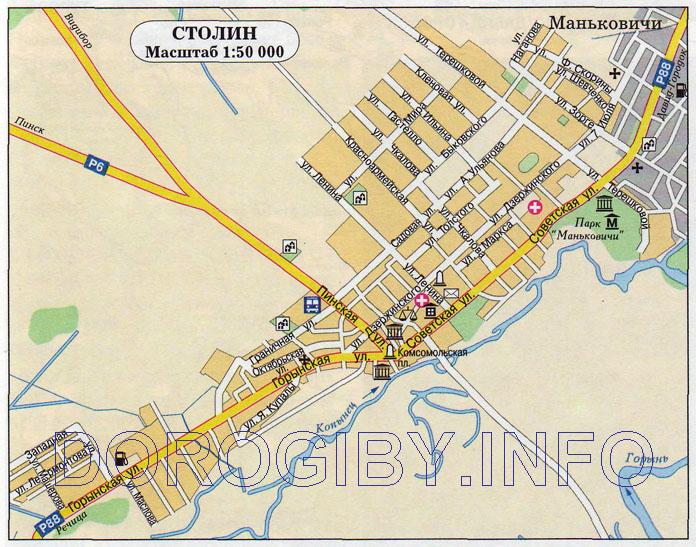 Карта Столина