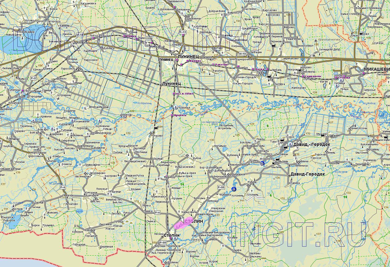 Карта Столинского района
