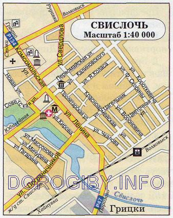 Карта Свислочи