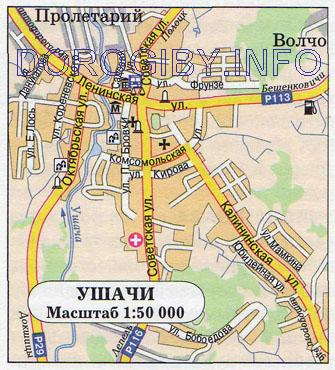 Карта Ушач