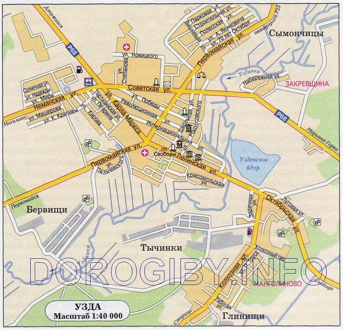Карта Узды