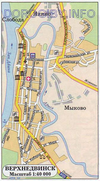 Карта Верхнедвинска