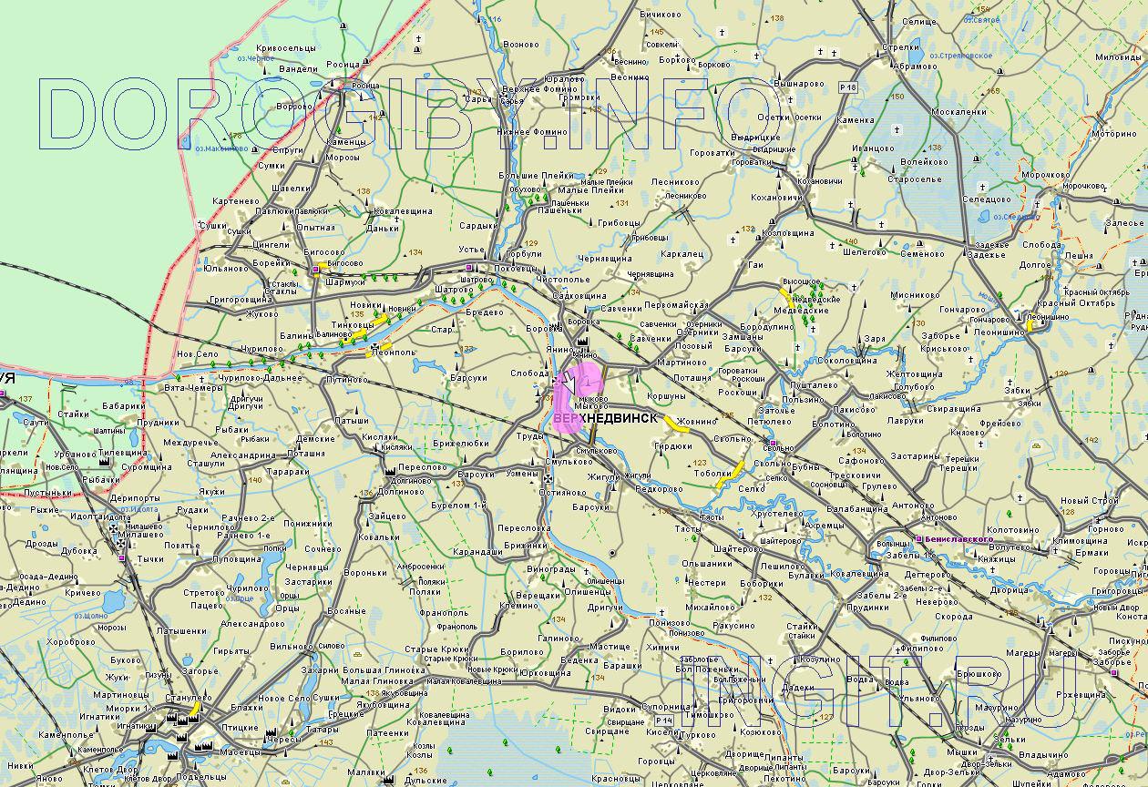 Карта Верхнедвинского района