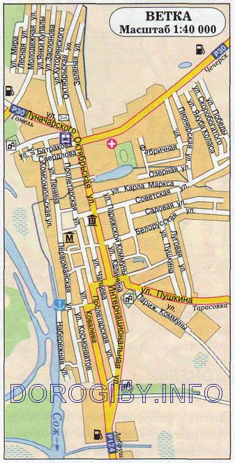 Карта Ветки