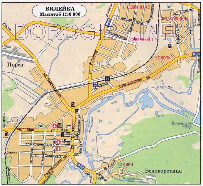 Карта Вилейки