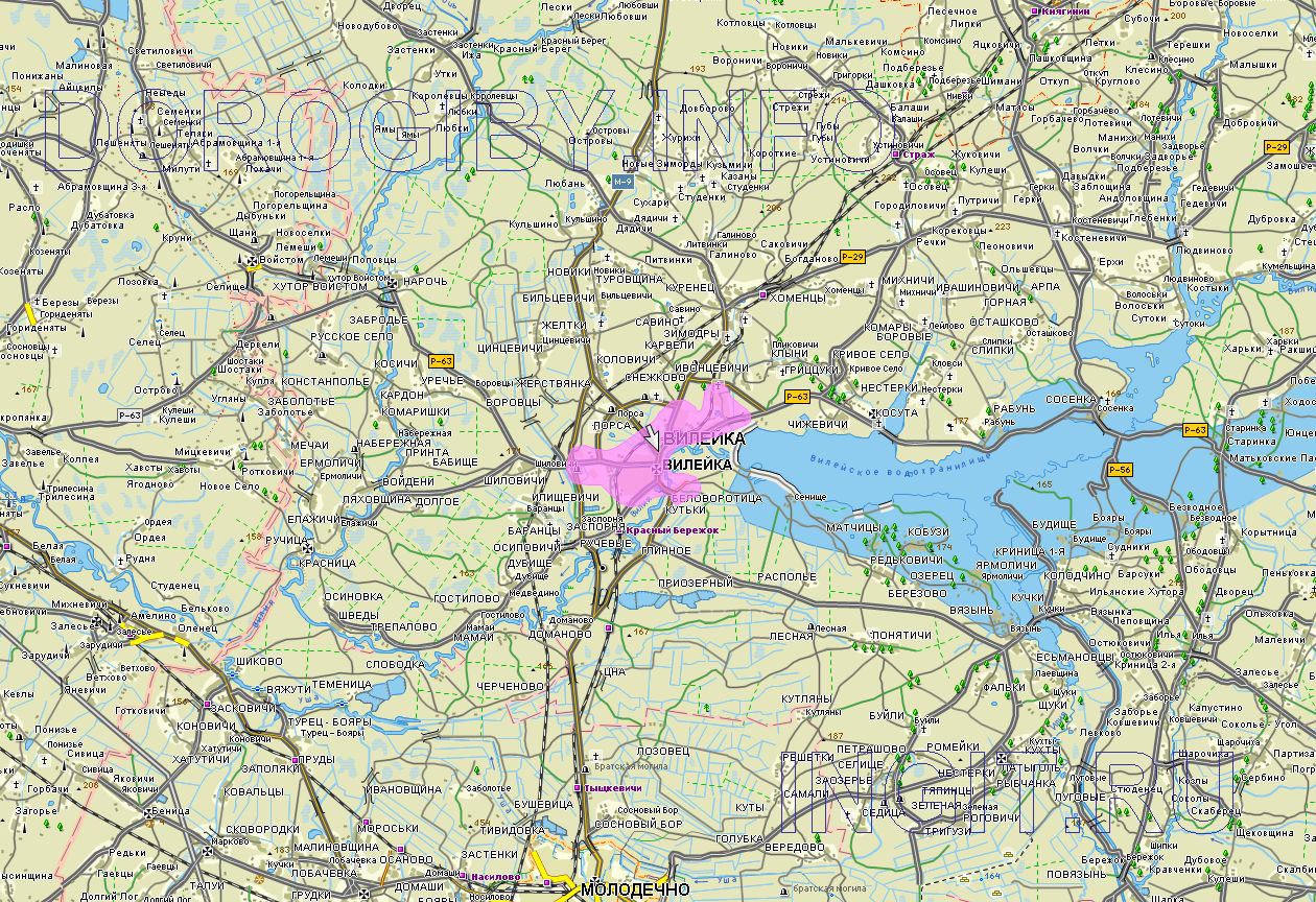 Карта Вилейского района