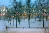 Novogodnyaya noch. Vid iz okna na ul. Kirova. g. Vitebsk
