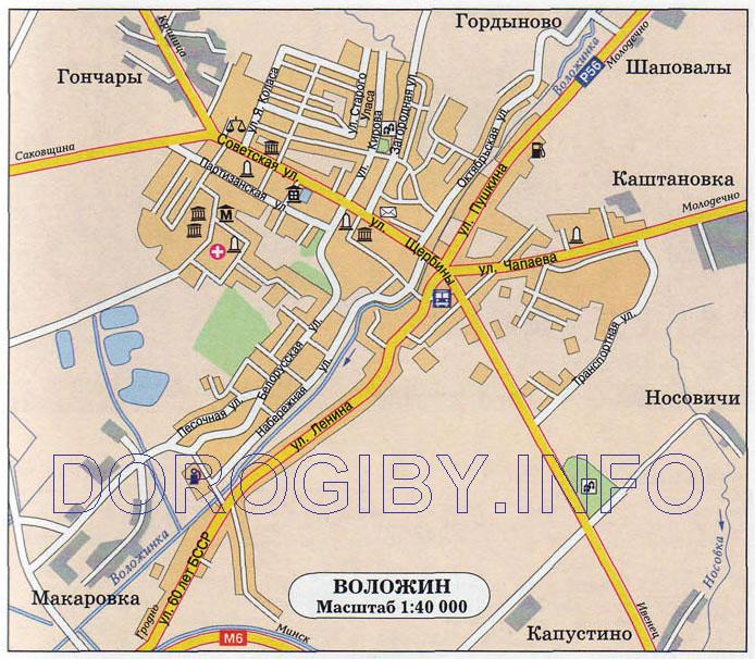 Карта Воложина