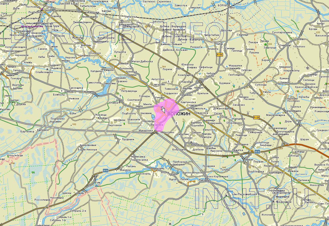 Карта Воложинского района