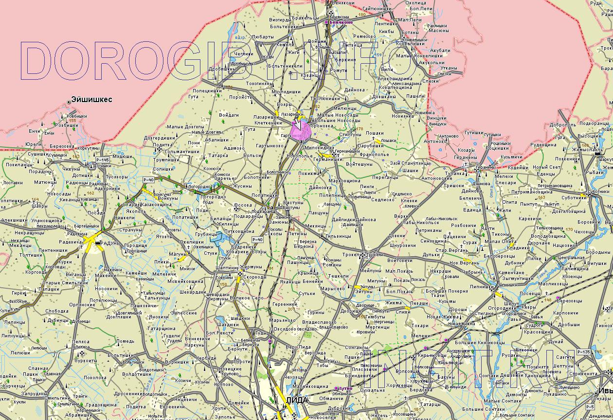 Карта Вороновского района