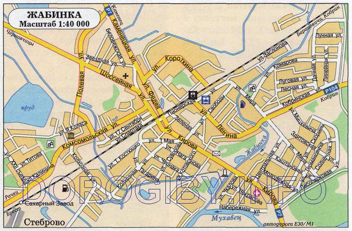 Карта Жабинки